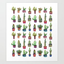cactus in pockets Art Print