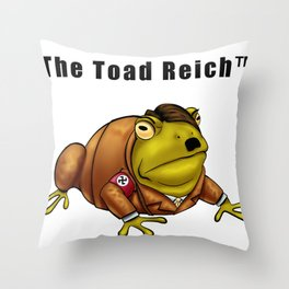 The Toad Reich Throw Pillow