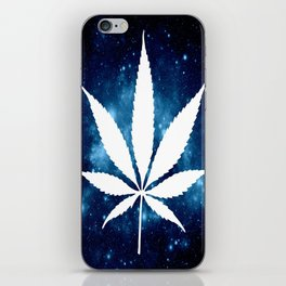 Weed : High Times Blue Galaxy iPhone Skin