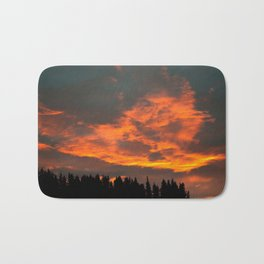 Fire Clouds Bath Mat