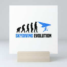 Skydiving Evolution T Shirt Parachute TShirt Skydiver Shirt Evolution-Look Gift Idea Mini Art Print
