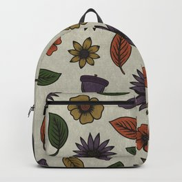 Fall Floral Pattern (OATMEAL) Backpack