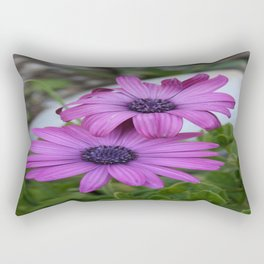 Purple and Pink African Daisy Flowers Rectangular Pillow