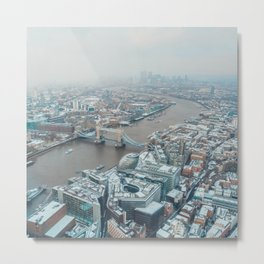 Snowy London Metal Print
