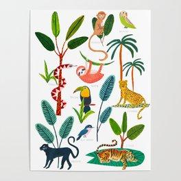 Jungle Creatures Poster