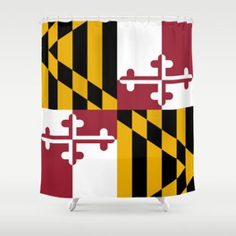 Maryland State Flag, Hi Def image Shower Curtain