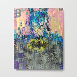Superhero Type Art Comics Bat Metal Print