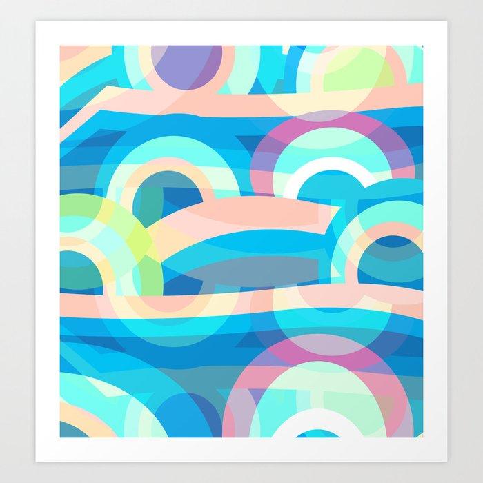 Marine abstraction Art Print