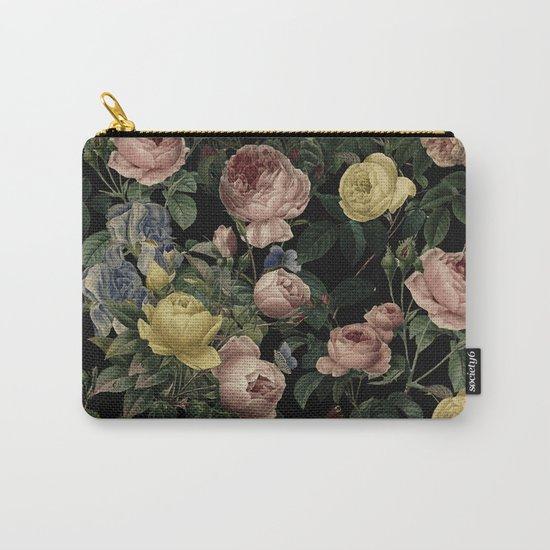 Vintage Roses and Iris Pattern - Dark Dreams by originalaufnahme