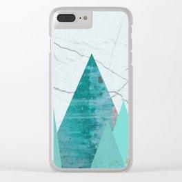 Green Peaks I Clear iPhone Case