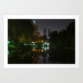 59th Street from The Pond,Central Park Art Print