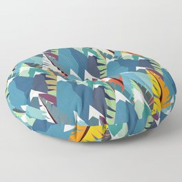 Mountains and Spruces Pattern Floor Pillow