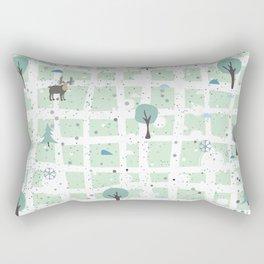 Trees and Moose Rectangular Pillow