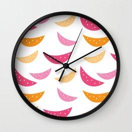 Melone pattern Wall Clock