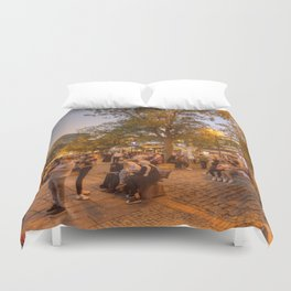 Istanbul At Night Duvet Cover