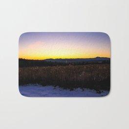 Mountain view Sunset Bath Mat