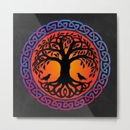 Viking Yggdrasil World Tree Metal Print