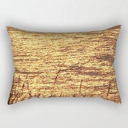 Sparkling Sea of Gold Rectangular Pillow