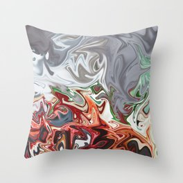 Blooded Mint Throw Pillow