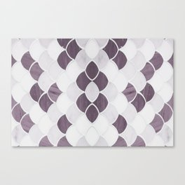 Moroccan Scalloped Flower Plum Canvas Print