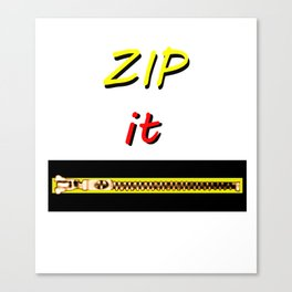 Zip it Black Yellow Red jGibney The MUSEUM Gifts Canvas Print