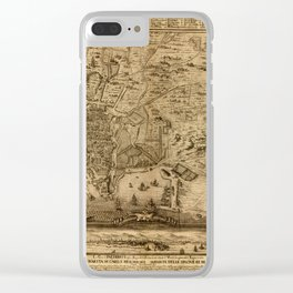 Map Of Palermo 1750 Clear iPhone Case