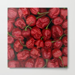 Big Bunch Of Peppers Metal Print