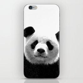 Black and white panda portrait iPhone Skin