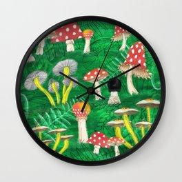 Mushroom Party Wall Clock