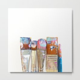 Five Paintbrushes Minimalist Photography Metal Print