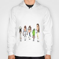 teen titans Hoodies featuring one direction as the teen titans by Muggle Merch