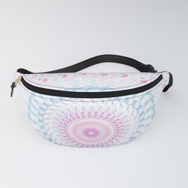 Pastel Wave Mandala in Pale Pink, White, and Lilac Fanny Pack