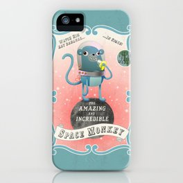 The Amazing Space Monkey iPhone Case