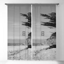 Golden Gate Bridge From Baker  Beach Blackout Curtain