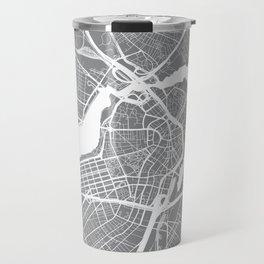 Grey City Map of Boston, Massachusetts Travel Mug