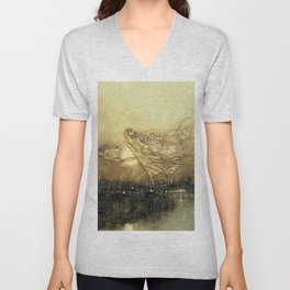 """Fairies in Kensington Gardens"" by Arthur Rackham Unisex V-Neck"