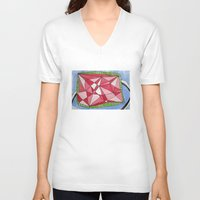 ruby V-neck T-shirts featuring Ruby by Rainearts