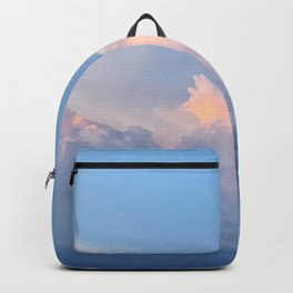 Summer Sunset with Glowing Thunder Clouds over the Pacific Ocean Backpack