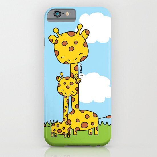 Giraffe Hugs iPhone & iPod Case
