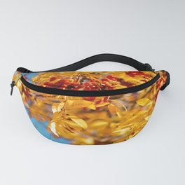 Rowan in the autumn forest Fanny Pack