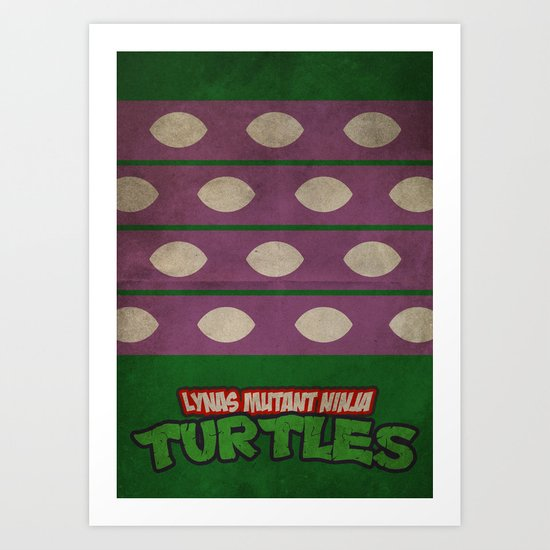 LYNAS Mutant Ninja Turtles: Donatello Art Print