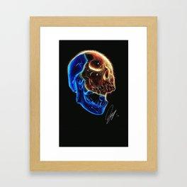 Ballpoint pen inverted Skull drawing Framed Art Print