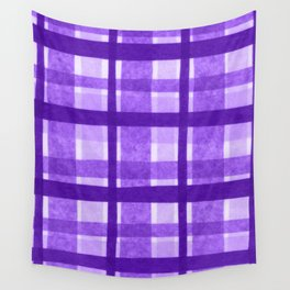 Tissue Paper Plaid - Purple Wall Tapestry