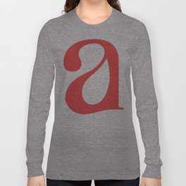lowercase a Long Sleeve T-shirt