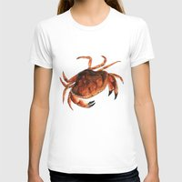 crab T-shirts featuring Crab by Trinity Mitchell