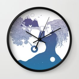 Watching the World I Once Knew (The Night Sky's Point of View) Wall Clock