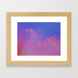 Pink And Blue Sky Framed Art Print