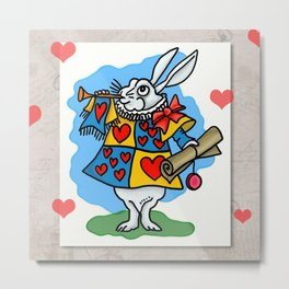 The Trumpeting Bunny Metal Print