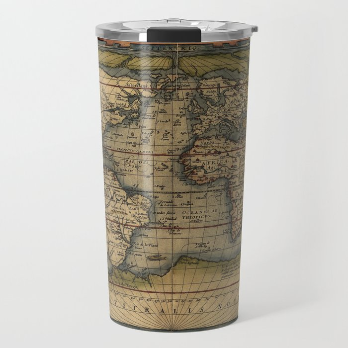 Antique Map of North and South America Travel Mug