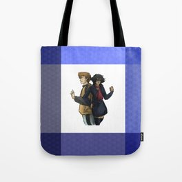 Blue and Hige Tote Bag